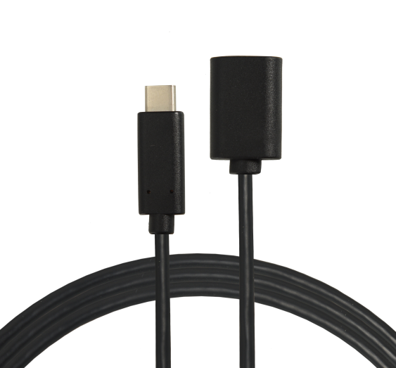 黑色TYPE-C转USB3.0母头数据线定制